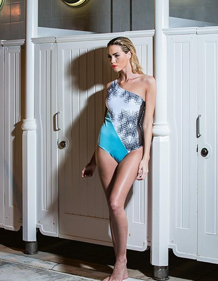 Vertex One Shoulder Swimsuit