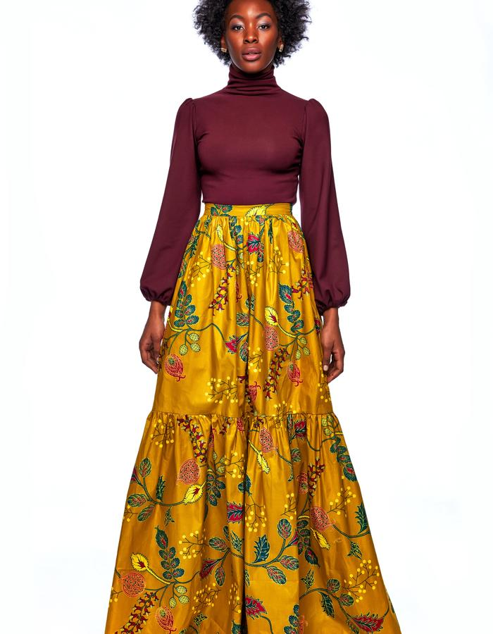 Claire Turtleneck and Genevieve Maxi Skirt