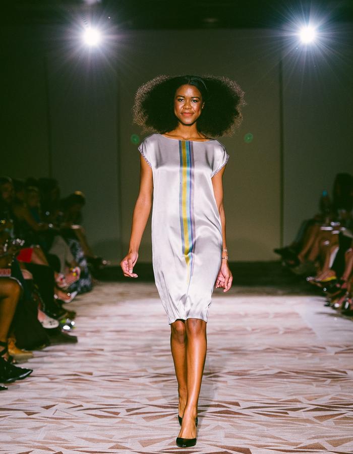 Custom Hand Painted Silk Batik Dress - Masha Osoianu Design