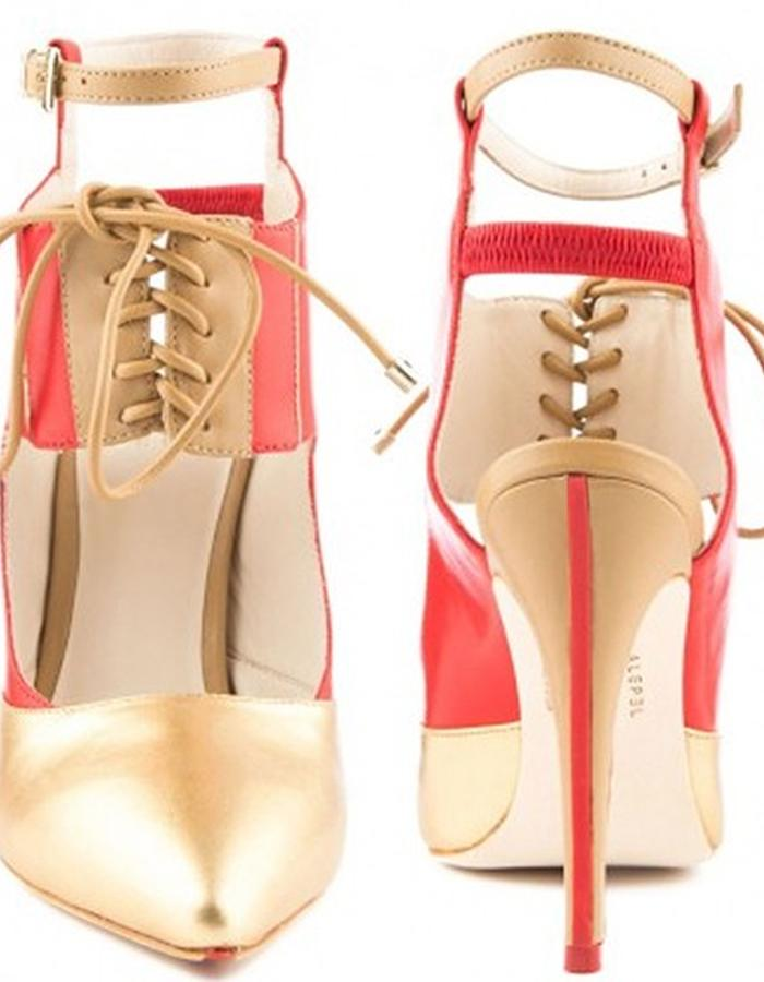 ALEPEL Chaine Pump Red/Gold - Line
