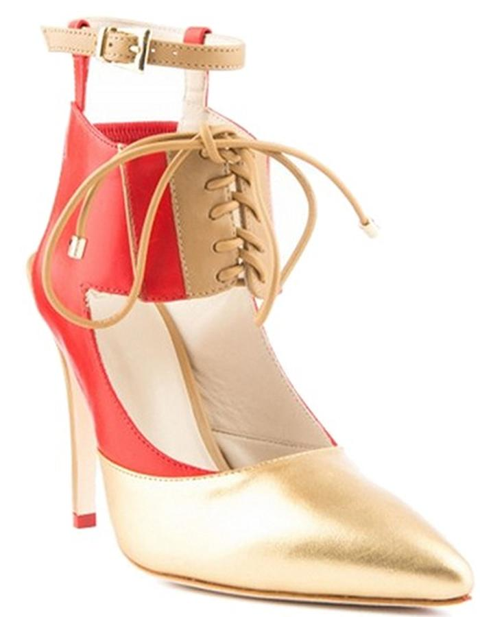ALEPEL Chaine Pump Red/Gold - Perspective