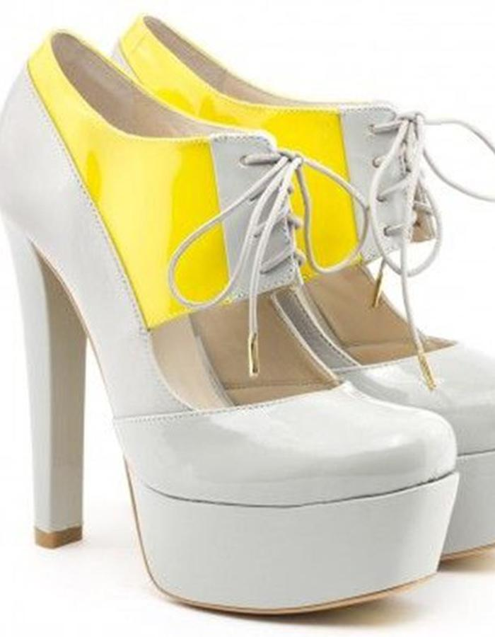 ALEPEL Pruga Grey/Yellow - Pair