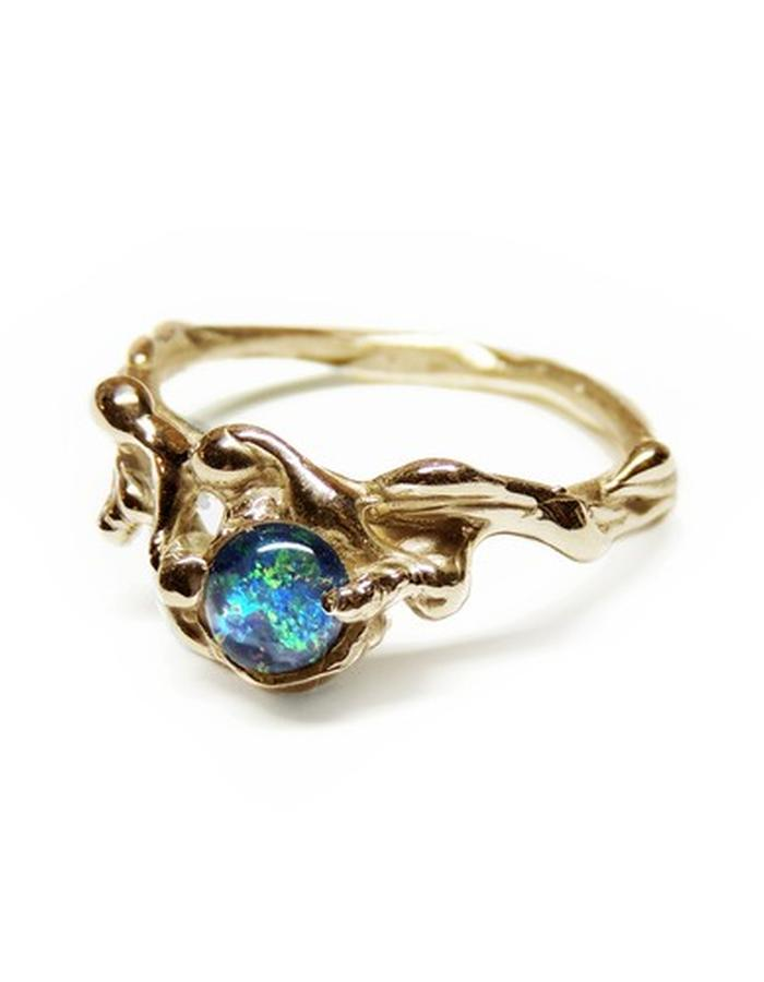 solid gold and opal