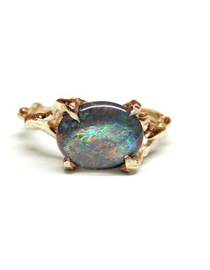 solid 14ct gold and opal