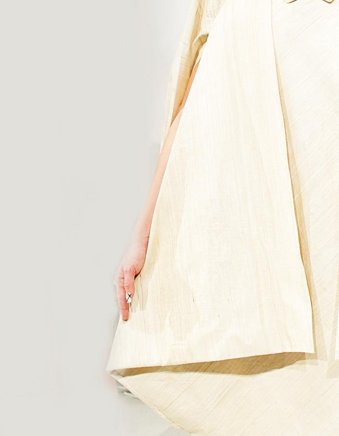 The Tent dress in Raw Silk