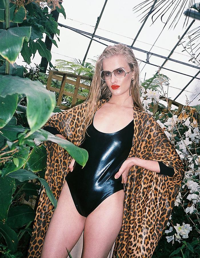 Panthera Hi-Cut Swimsuit and Cheetara Kimono