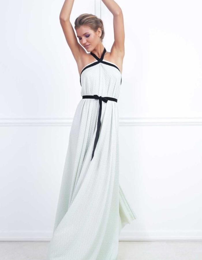 Pale green long dress