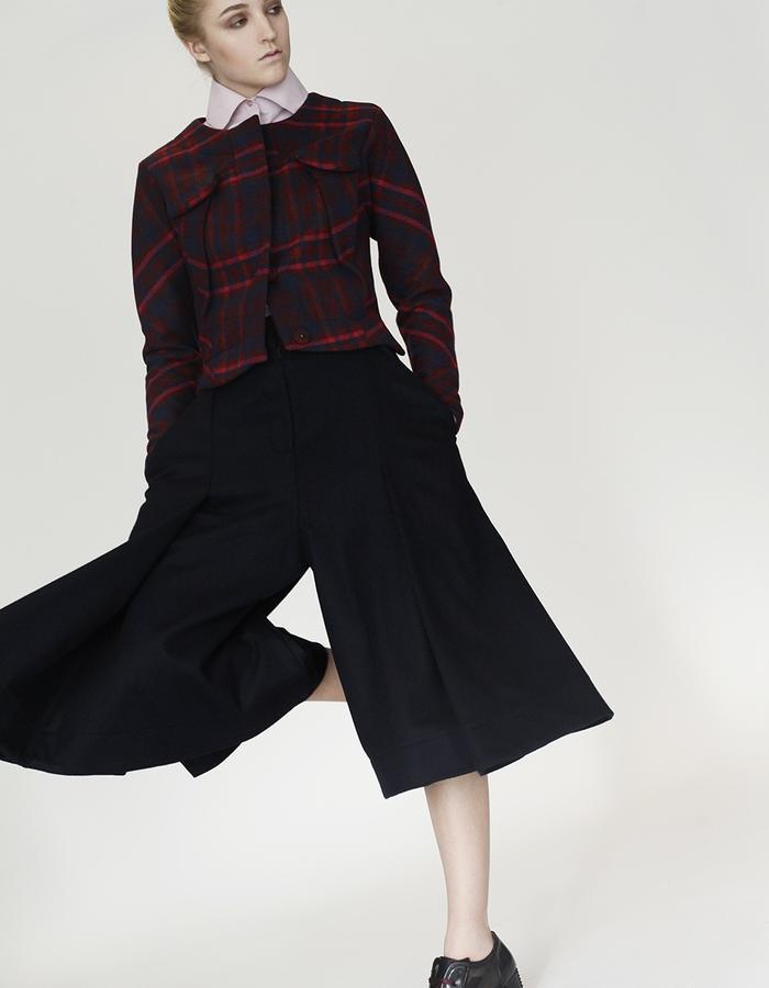 Origami shirt, jacket, wide trousers YOJIRO KAKE  AW Japanese fashion designer based in Florence Italy
