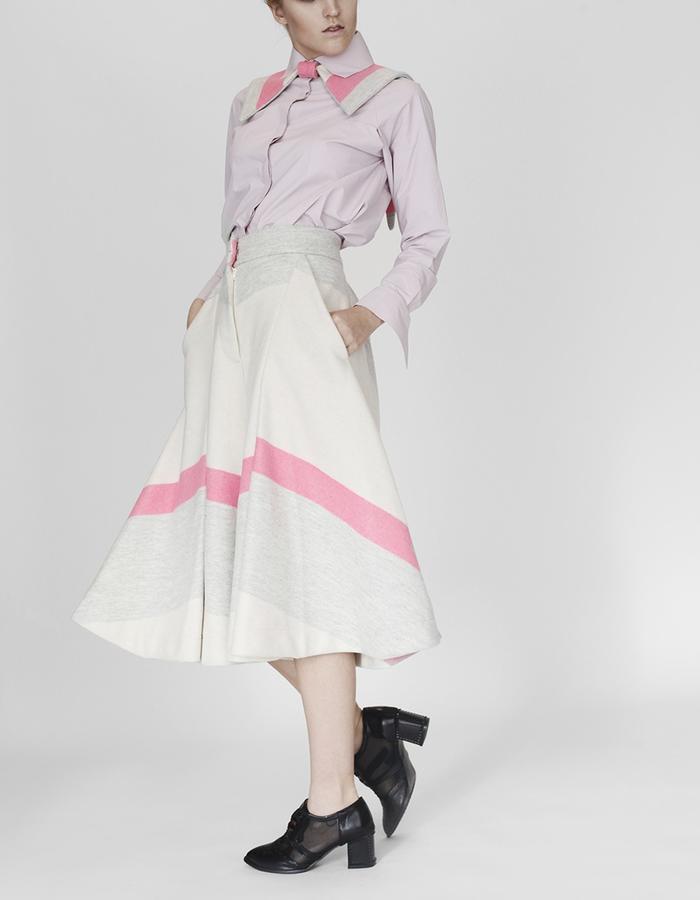 Origami shirt, trousers YOJIRO KAKE  AW Japanese fashion designer based in Florence Italy