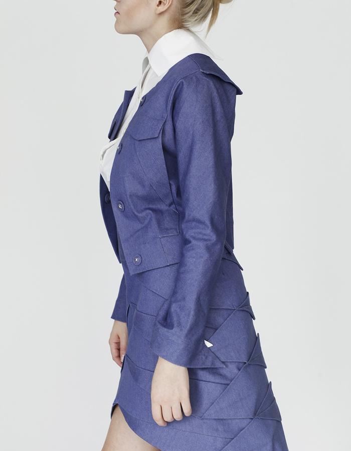 Origami shirt, jacket and pleating skirt YOJIRO KAKE  AW Japanese fashion designer based in Florence Italy