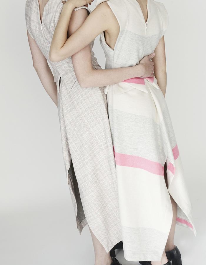 Origami midi dress YOJIRO KAKE  AW Japanese fashion designer based in Florence Italy