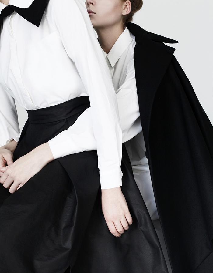 Origami shirt, skirt, maxi shirt, cape YOJIRO KAKE  AW Japanese fashion designer based in Florence Italy