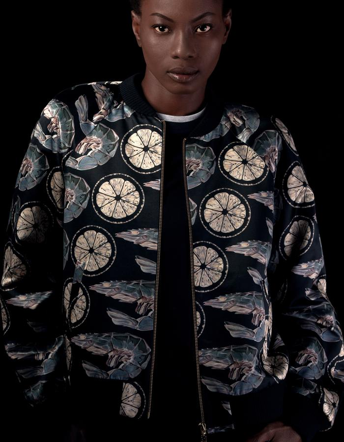 X-ray Prawn Bomber Jacket - Unisex