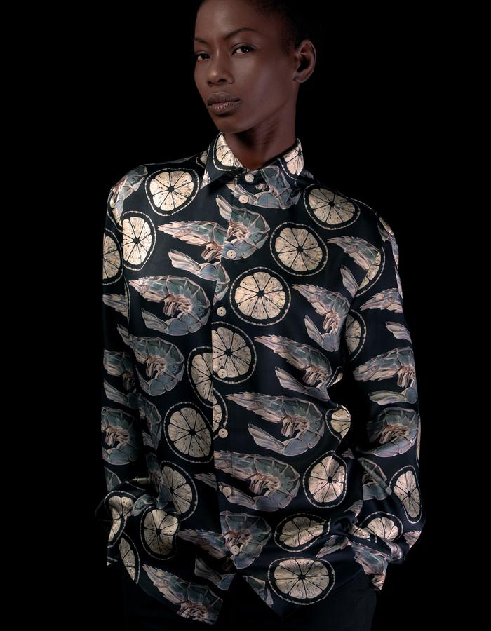 X-ray Prawn Silk Shirt - Unisex