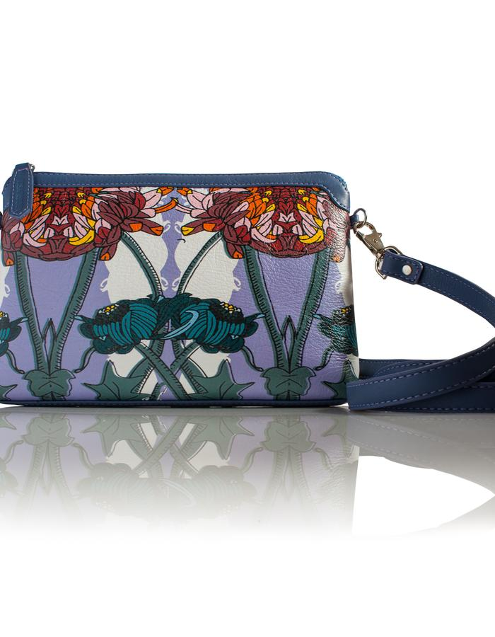 A flower Moment- Soft Rectangular - Cross Body Handbag