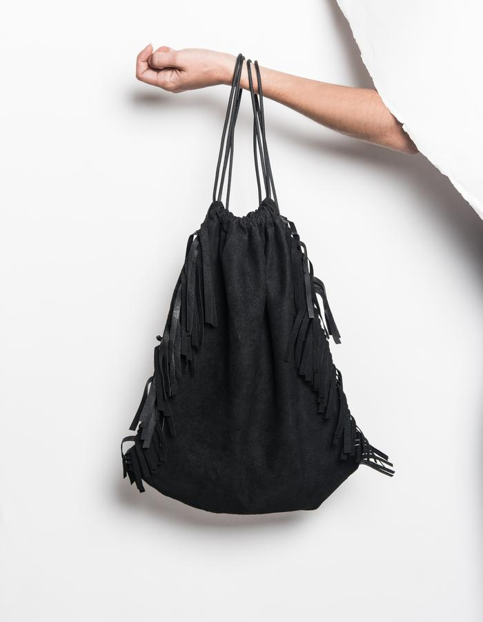 SERIAL N°7.15/FRINGED BACKPACK/PIG SKIN