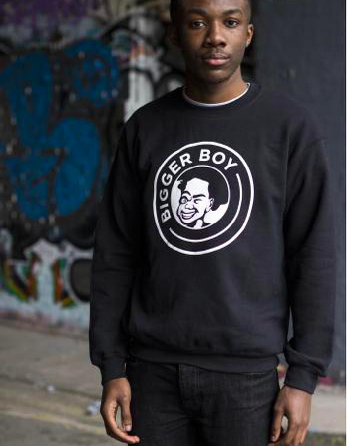 BIGGER BOY Classic Sweatshirt - Black/White