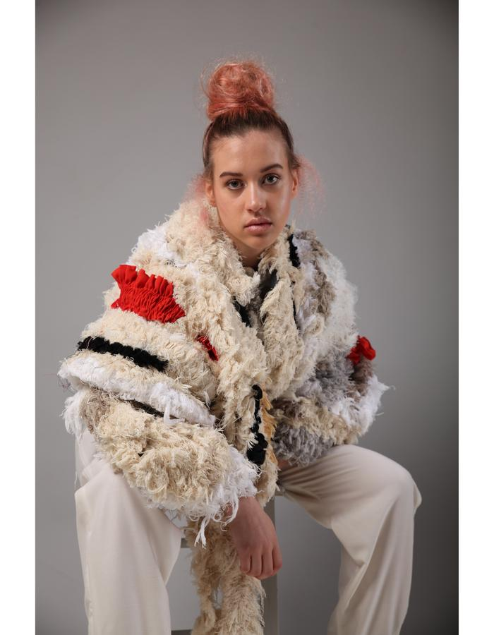 fiona cartmel ethical fashion sustainable eco upcycling why so wasteful? graduate collection princess pleating smocking upcycling