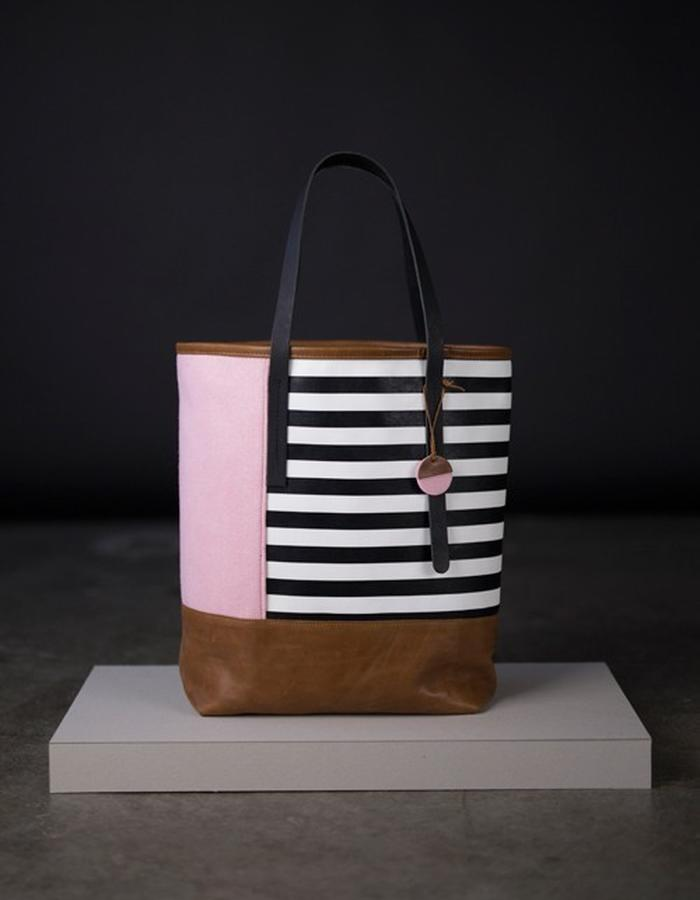 kalott custom bags stripes felt Not Just A Label leather