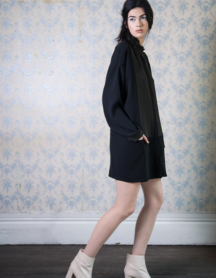 pannel shirt dress