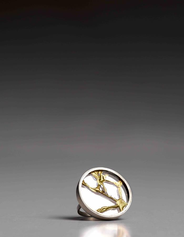 Kintsugi ring, healed with gold, knowing the object is more beautoful for having been broken