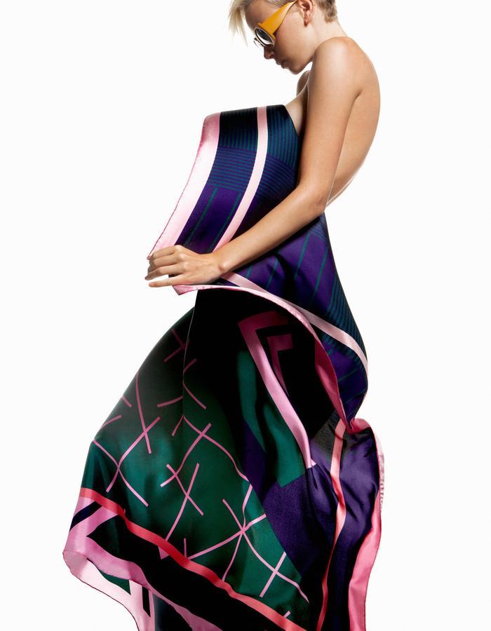 ODELLIN Square Twill Silk Scarf - Style ILA