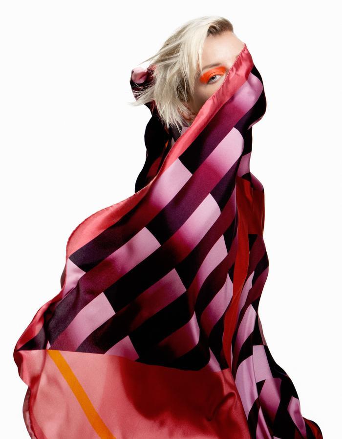 ODELLIN Square Twill Silk Scarf - Style JET