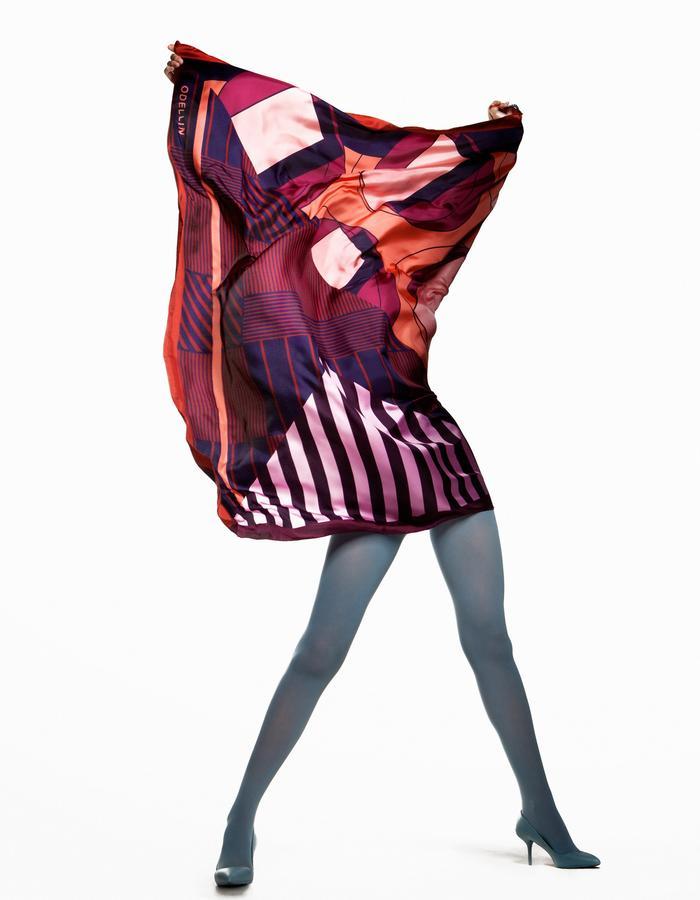 ODELLIN Square Twill Silk Scarf - Style LIL