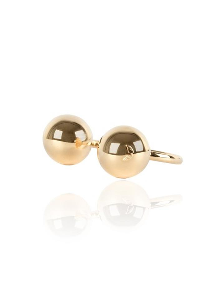 SPHERE'S BRACELET. Gold Plated Brass. Mirror finish. Nickel, Lead and cadmium free. Antiallergic treatment.