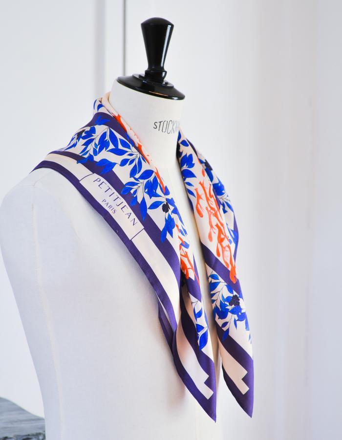 Petitjean Paris, a Parisian maison specialized in silk carrés scarves and silk shirts - Collection n°0 - Les Jurassiennes