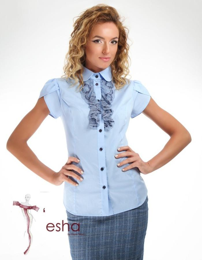 blue elegant female shirt