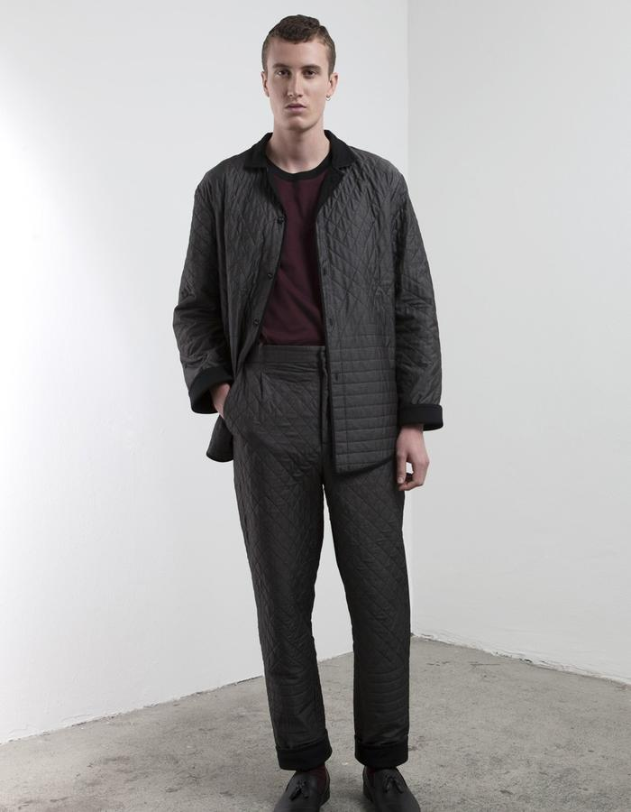 padded and reversible house suit for sartorial comfort.