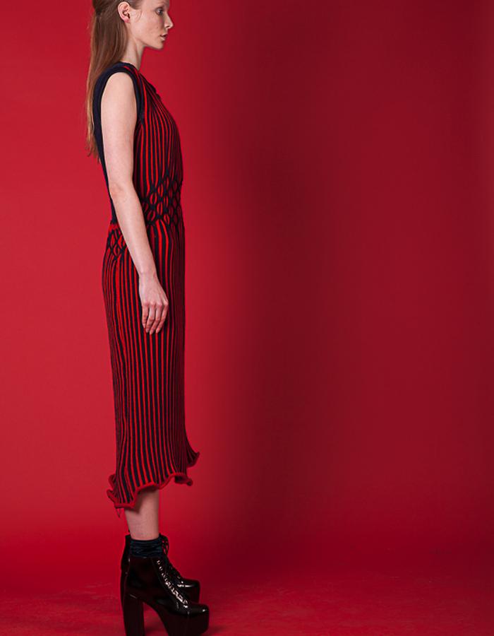 Cashmere stripe dress