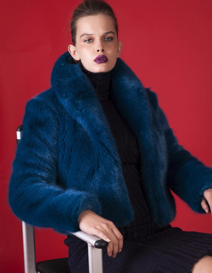 Electric Faux fur coat