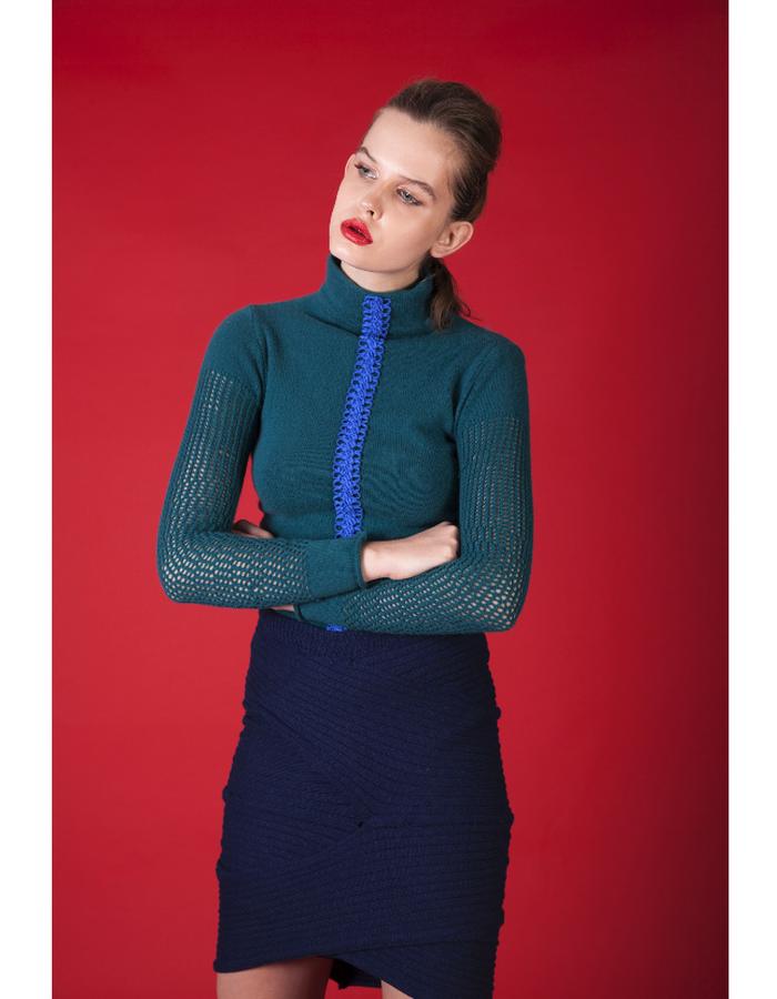 Cashmere jumper & wool skirt