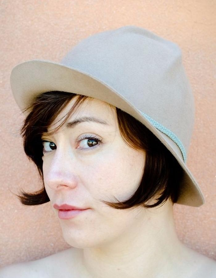 'Montaña' Slouch Hat with Sculpted Geometric Crown