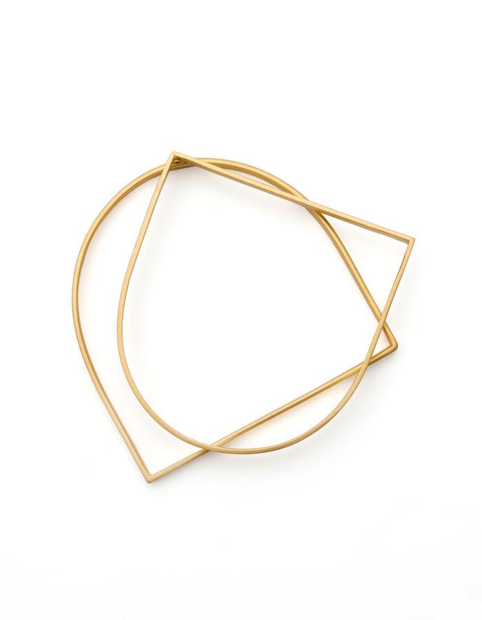 Slim U- Shaped Golden Bracelet