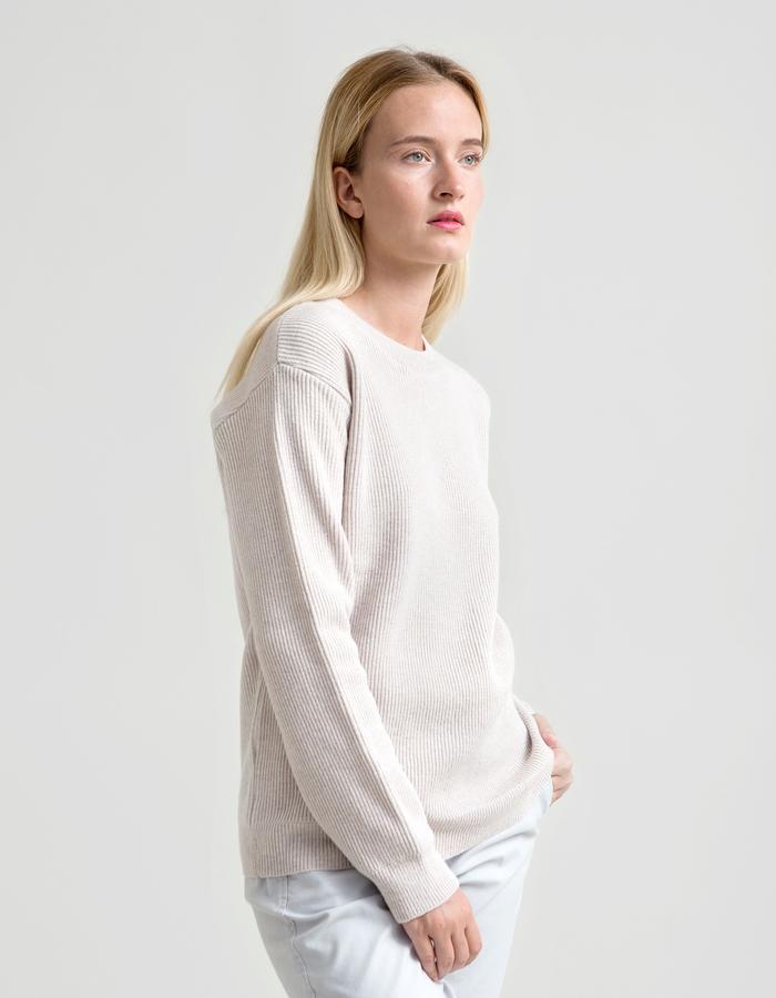 Fisherman's Rib Merino Sweater - Ecru