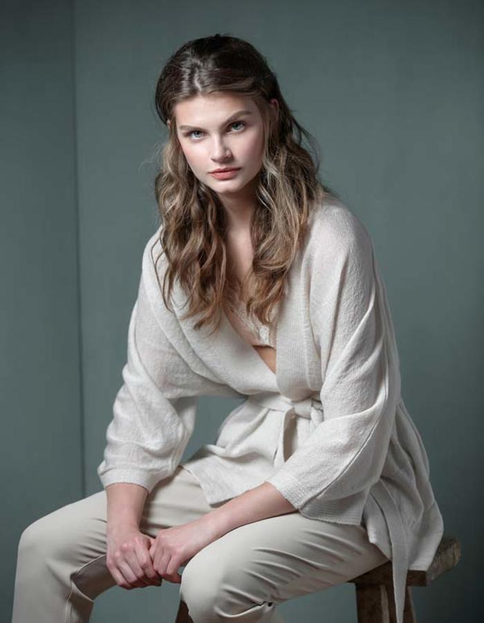 Airy Mohair Kimono-Ivory