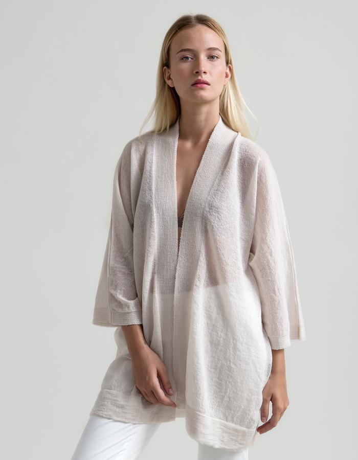 Airy Mohair Kimono - Ivory