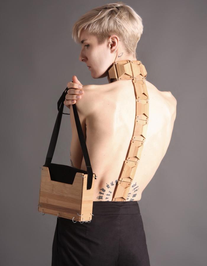 Bamboo bag with velvet