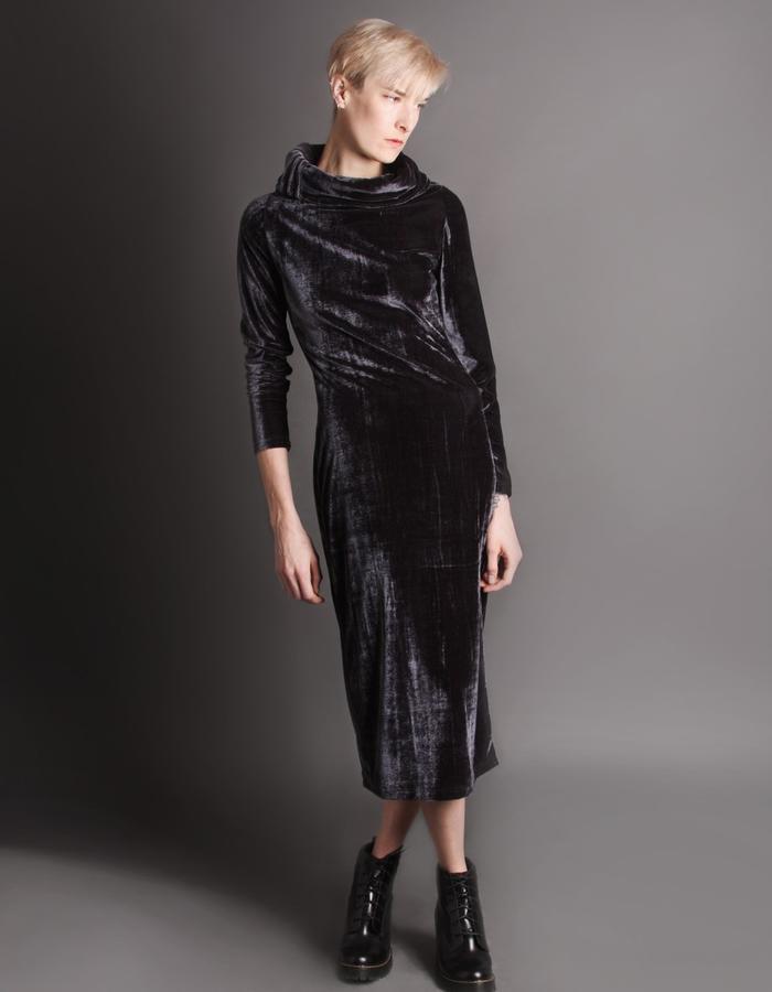 Velvet dress front