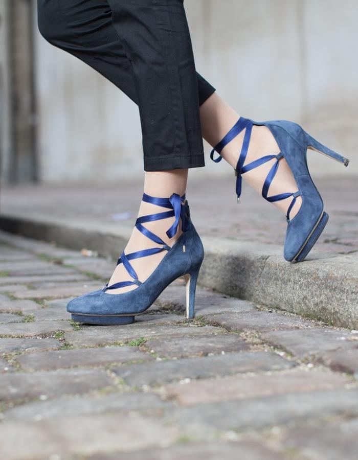 3e4927026 ... blue louise roccamore comfortable high heel ...