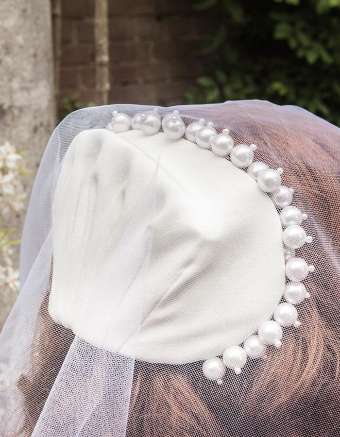 Pearl Crown Silk Cap