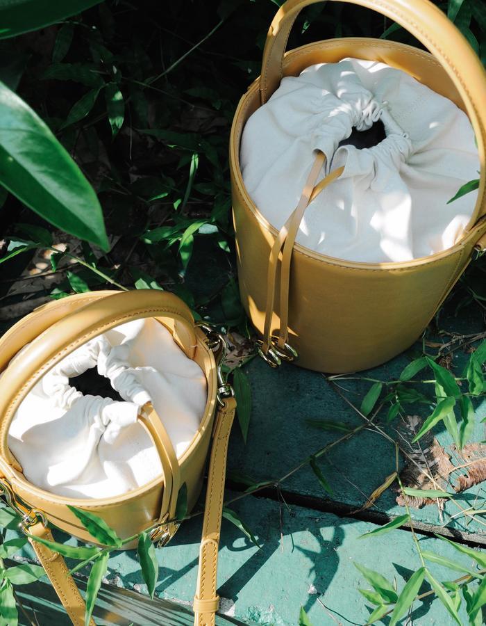 Cafuné mini basket bucket mustard