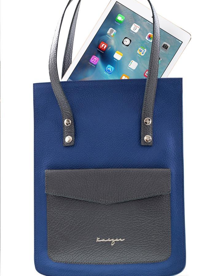 Kaizer Adroit Blue Grey Laptop Bag