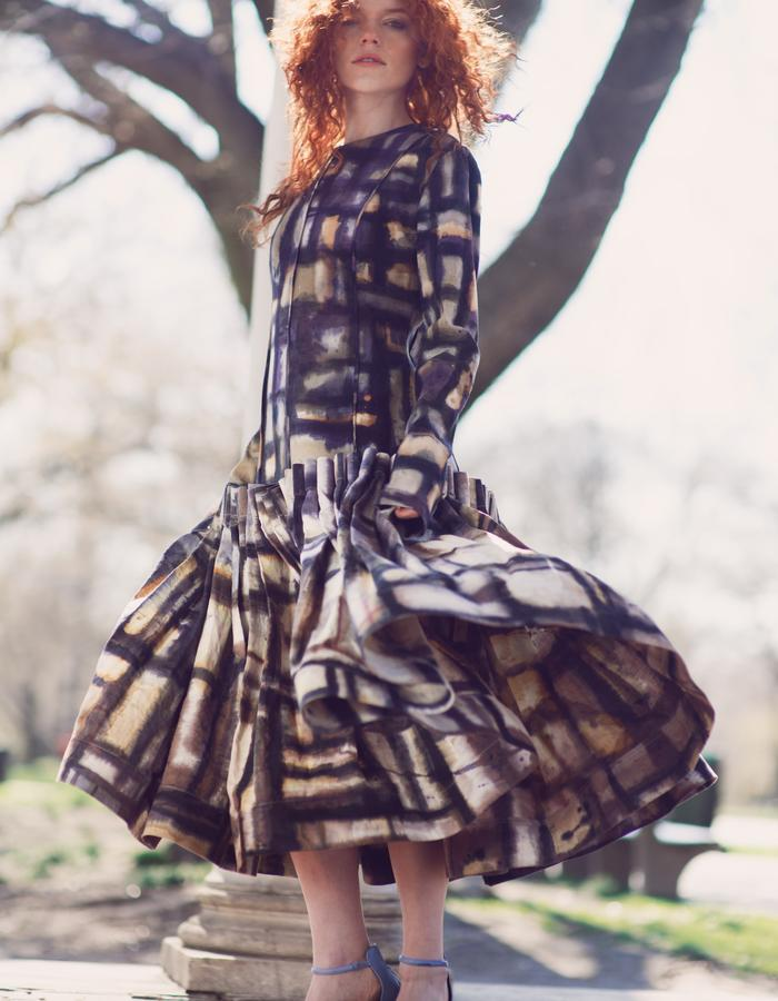 Look 4,Modern Naturally dyed Print Dress by Lina Mayorga
