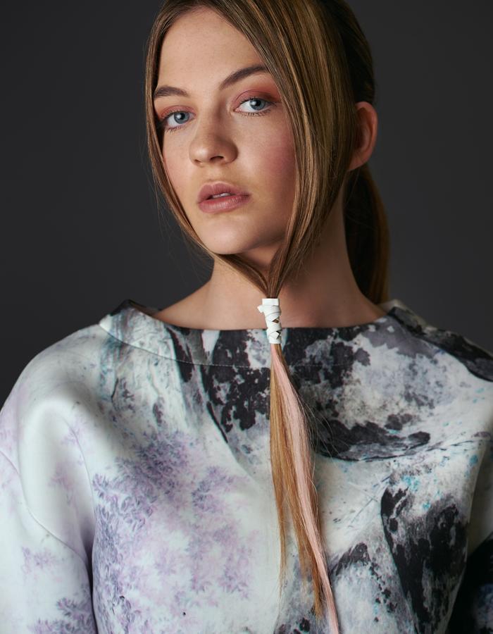 Zapota Hair - The Hampstead Hairband White/Blossom Pink