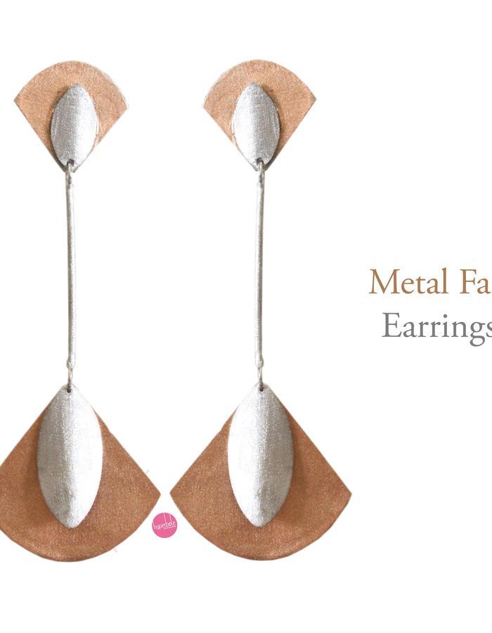 Metal Fan Earrings