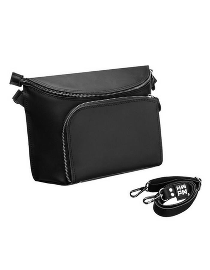 5:53 black mat Universal Leather Bag